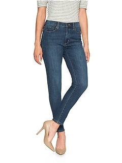 Petite Medium Wash High Rise Skinny Jean