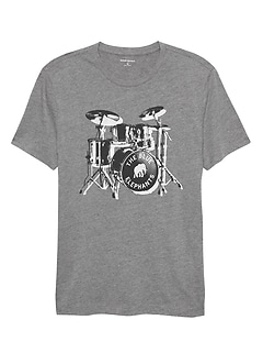 Drum Set Graphic T Shirt