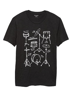 Drum Parts Graphic T Shirt