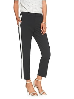 Petite Avery Side Stripe Tailored Ankle Pant