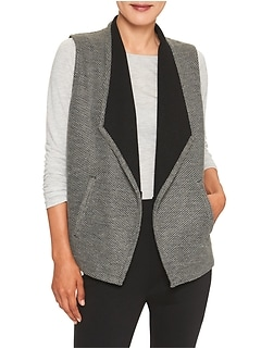 Petite Open Front Textured Jacket