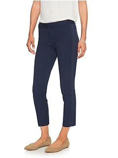 Sloan Stretch Double Top Stitch Crop Pant