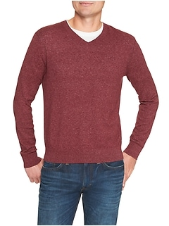 Heather V-Neck Sweater