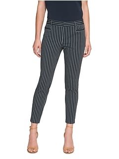 Petite Sloan Stretch Striped Crop Pant