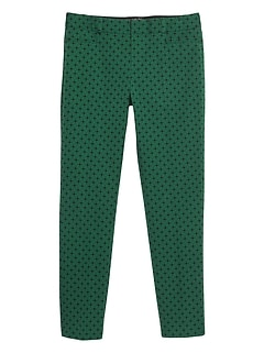 Sloan Geo Print Stretch Crop Pant