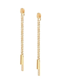 Pave Fringe Drop Earring