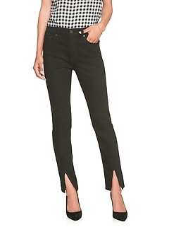 Petite FadeResist High Rise Slit Front Skinny Jean