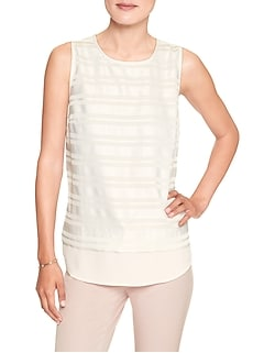 Petite Sheer Double Layer Tank