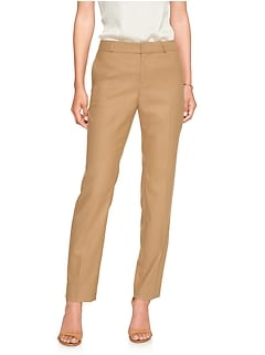 Petite Machine Washable Ryan Brushed Twill Camel Suit Pant