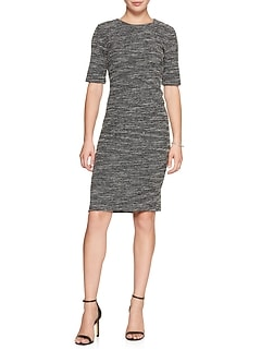 Boucle Stretch Sheath Dress