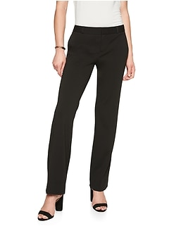 Petite Machine Washable Logan Black Ponte Suit Trouser
