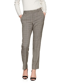 Petite Ryan Glen Plaid Suit Pant