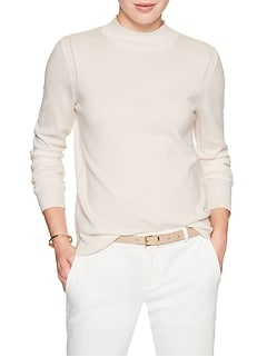 Tailored Mock Neck Sweater