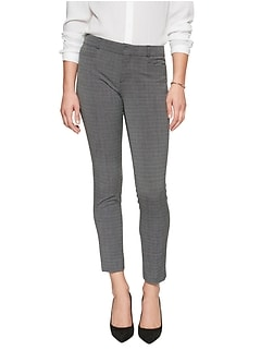Petite Sloan Crosshatch Slim Ankle Pant