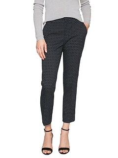 Petite Avery Abstract Check Twill Tailored Ankle Pant