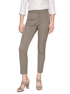 Curvy Sloan Heathered Slim Ankle Pant