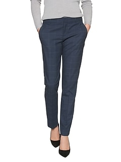 Petite Ryan Blue Windowpane Fashion Pant