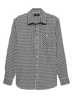 Slim-Fit Lightweight Flannel Shirt