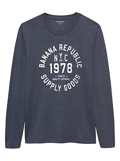 Long Sleeve 1978 Logo Graphic T Shirt