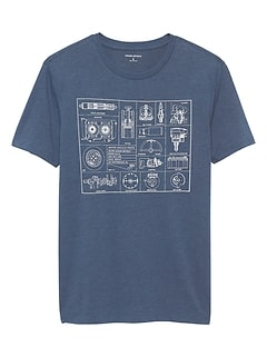 Car Parts Graphic T Shirt