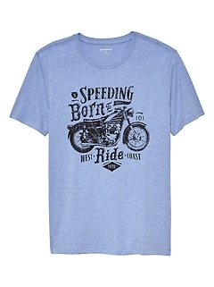 Motorcycle Poster Graphic T Shirt