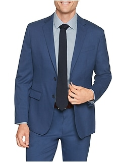 Slim-Fit Stretch Blue Blazer