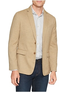 Slim-Fit Khaki Soft Stretch Blazer