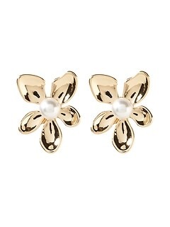 Mop Flower Stud Earring