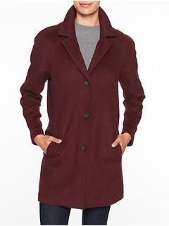 Double Face Raglan Sleeve Overcoat