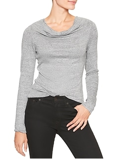 LuxeSpun Cowl Neck Top