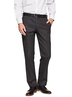 Slim-Fit Stretch Charcoal Trouser
