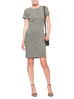 Stretch Boucle Sheath Dress