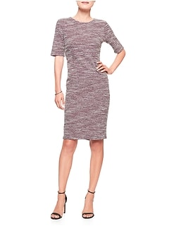 Petite Boucle Knit Sheath Dress