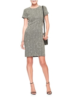 Petite Stretch Boucle Sheath Dress