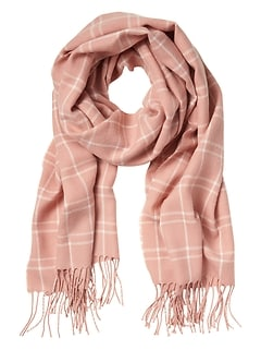 Savannah Pink Plaid Scarf