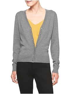 Petite Machine Washable V-Neck Forever Cardigan
