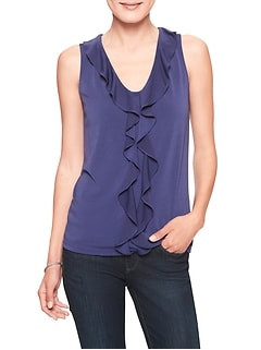 Ruffle V-Neck Top