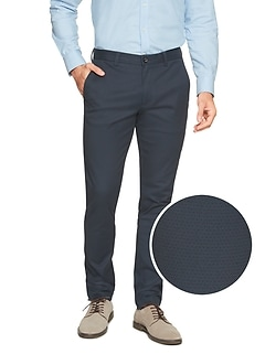 Fulton-Fit Stretch Navy Print Chino