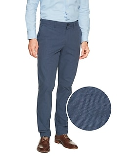 Aiden-Fit Blue Gingham Pant