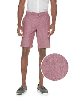 Aiden Slim-Fit Linen Blend Herringbone Short
