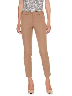 Petite Sloan Heathered Slim Ankle Pant