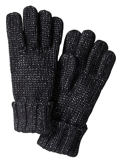 Knit Metallic Gloves