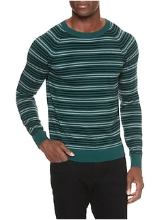 Stripe Premium Luxe Crew Neck Sweater