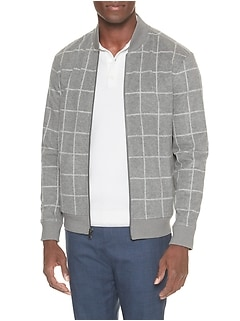 Windowpane Bomber Jacket