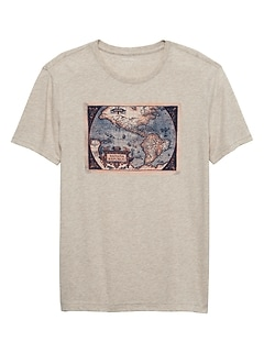 Map Reissue Graphic T Shirt