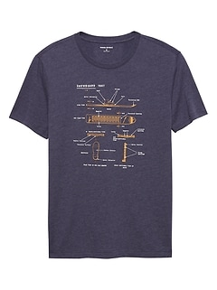 Snowboard Diagram Graphic T Shirt