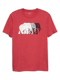 Elephant Row Graphic T Shirt