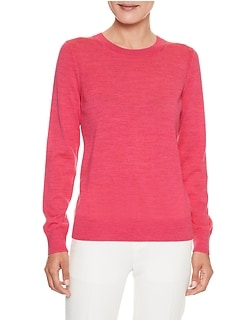 Petite Merino Wool Crew Neck Sweater