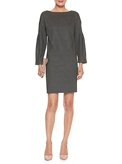 Petite Heather Textured Knit Shift Dress