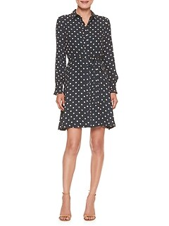 Petite Polka Dot Print Shirtdress